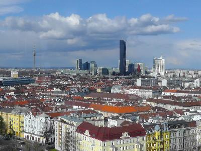 Wien Prater Aussicht Riesenrad Ausblick