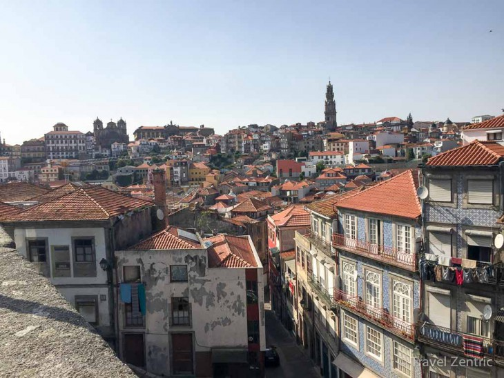 porto view from cathedral blue tiles