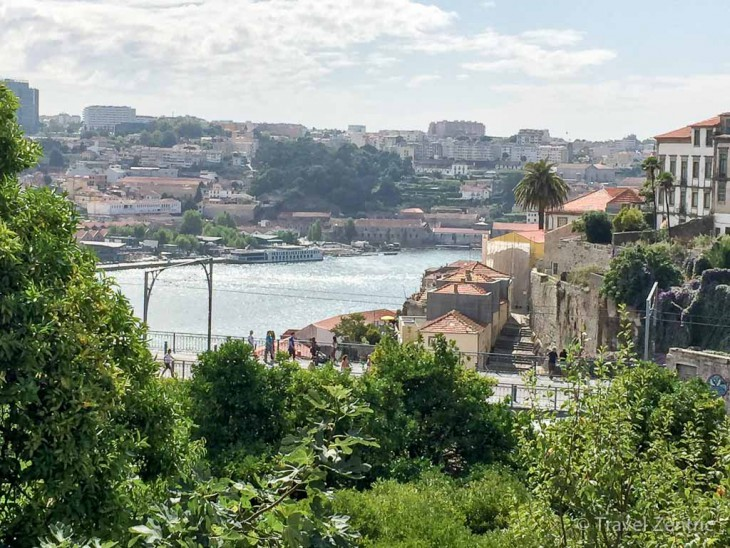 porto portugal view historic town city wall
