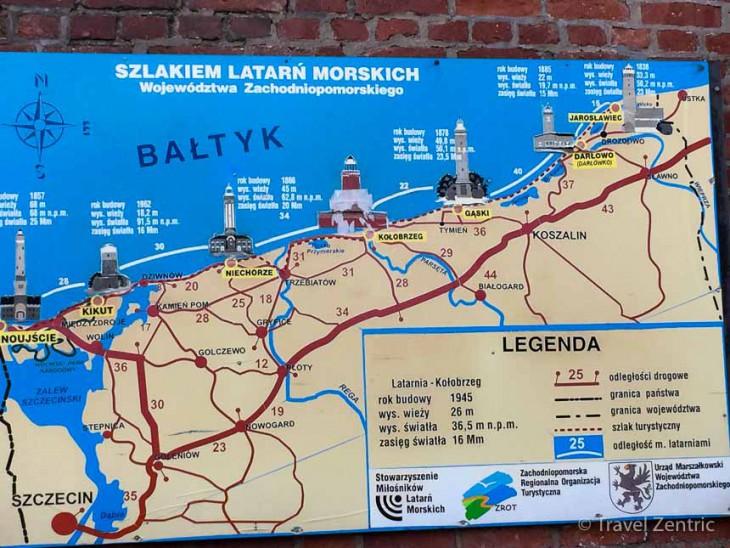 map baltic sea coast poland Kolobrzeg Karte polnische Ostseebäder