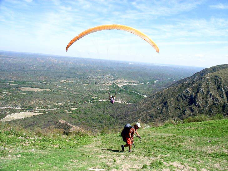 paragliding near Cordoba Argentina Argentinien individual activity