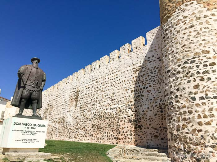 Sines Statue of Vasco da Gama Fort