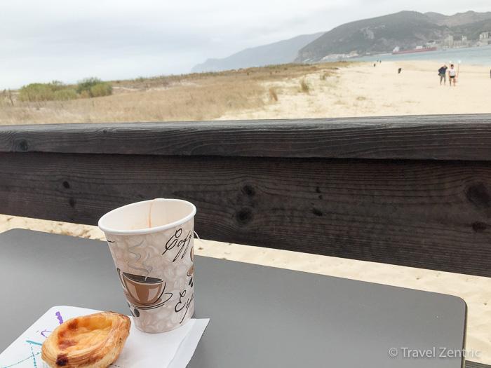 Troia beach pastel de nata tea Alentejo Portugal