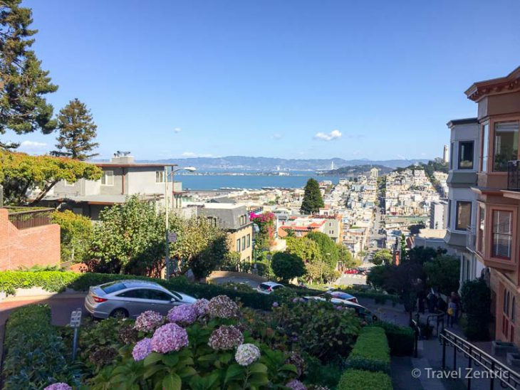 san francisco, lombard street, city view