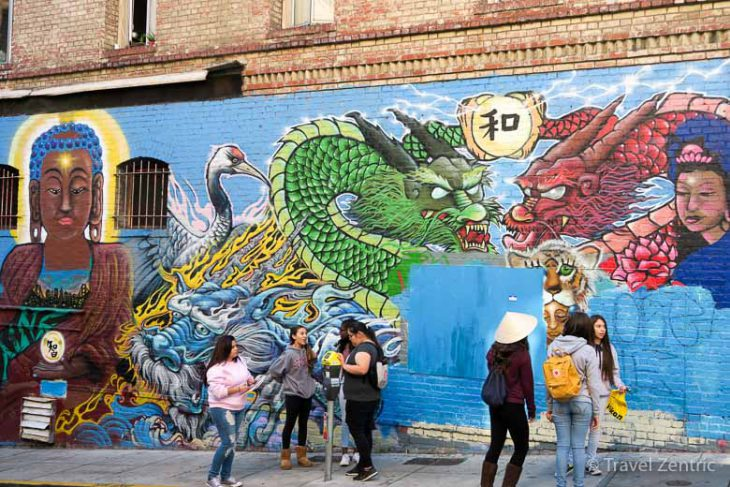 san francisco, chinatown, mural