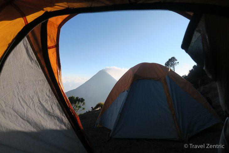 volcano smoking fuego acatenango camping hiking guatemala